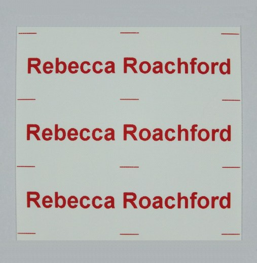 1 Line Iron-On Name Tapes
