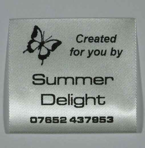 Sew Craft 11 - Butterfly design clothing label