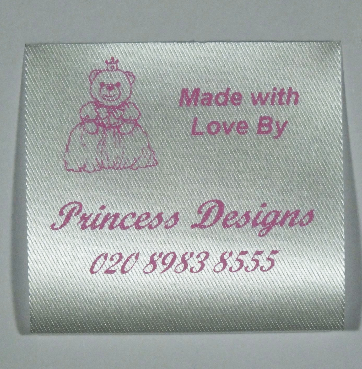 Personalised sew in craft labels for Sew in craft labels